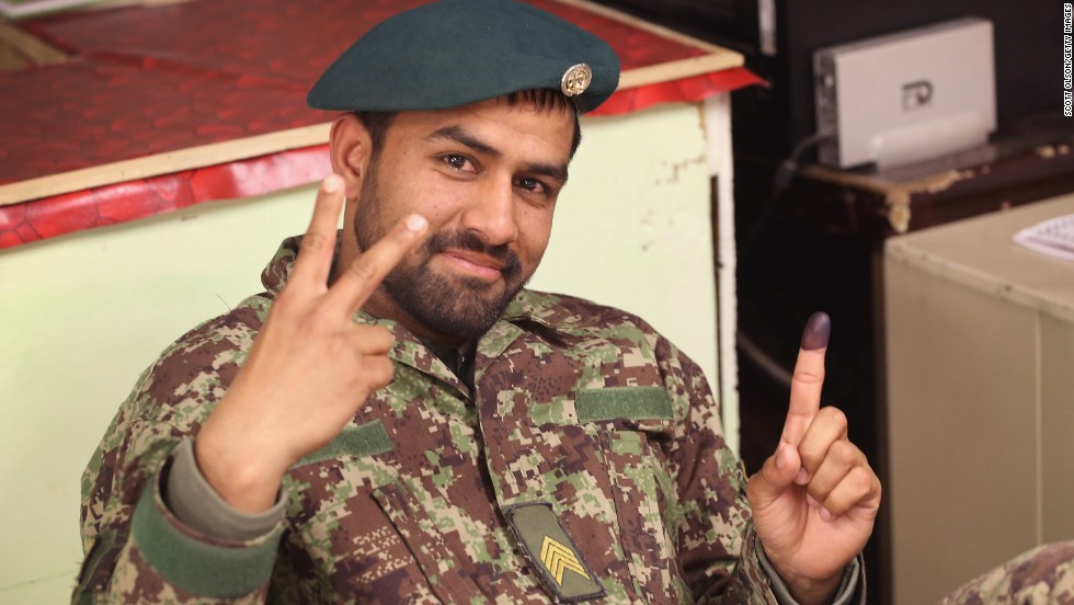 Afghan soldier election  Scott Olson%3aGetty Images
