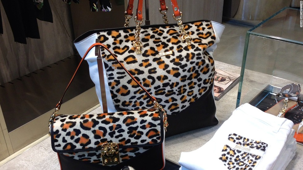 Orange may never be the new black, but Just Cavalli's mix with leopard print is fun and interesting.