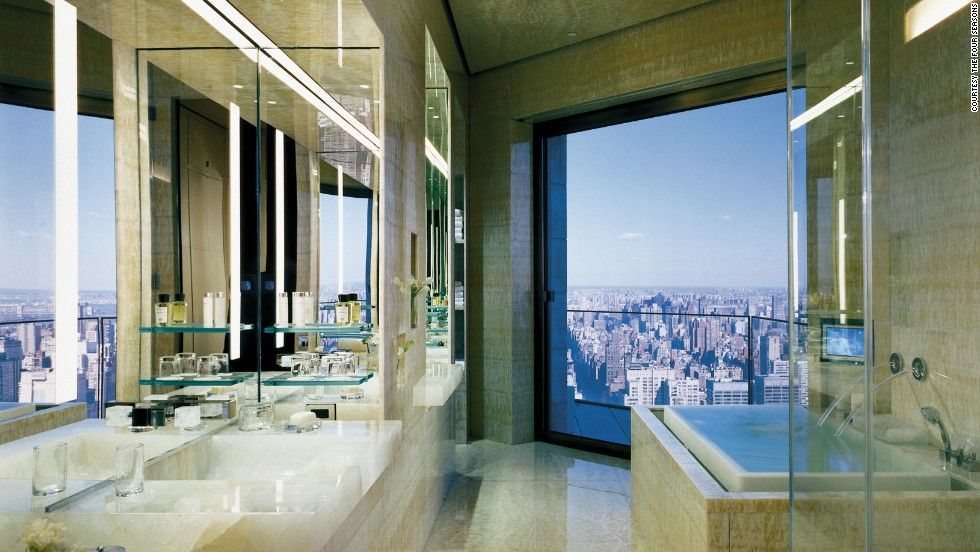 A suite at the Four Seasons Hotel in New York City costs $45,000 a night. Middle class Americans had a median household income of a little over $51,000 in 2013.