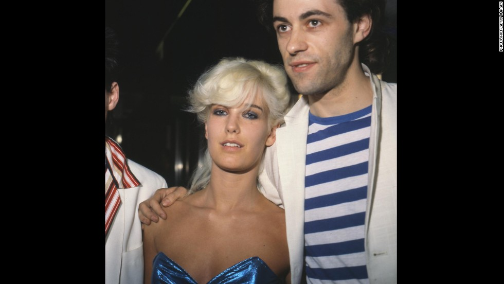 Bob Geldof and Yates in 1979. Yates died of a heroin overdose in 2000.