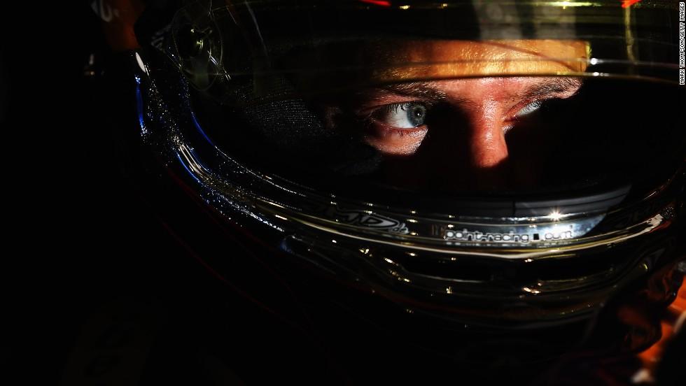 Formula One driver Sebastian Vettel prepares for qualifying Saturday, April 5, at the Bahrain Grand Prix.