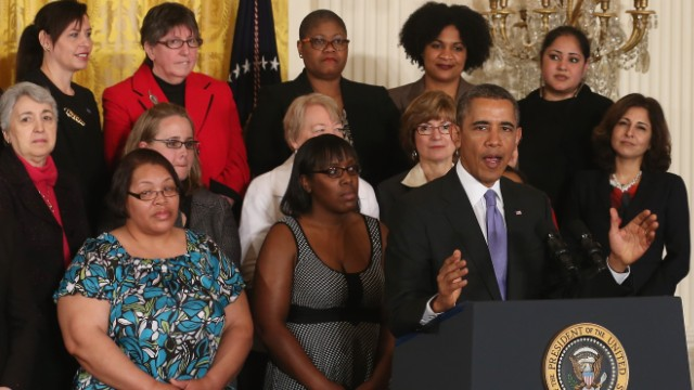 Obama: Pay inequality's an embarrassment