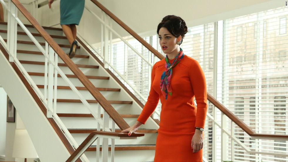 """Over eight years in the """"Mad Men"""" world, hemlines for women raised nearly as many inches, Przybyszewski said. By 1968, miniskirts were so ingrained in the public consciousness that women came up with solutions for flashing people when sitting down. One banker from Miami, interviewed by Time magazine, said his office's solution was to make women wear matching underpants, she said."""