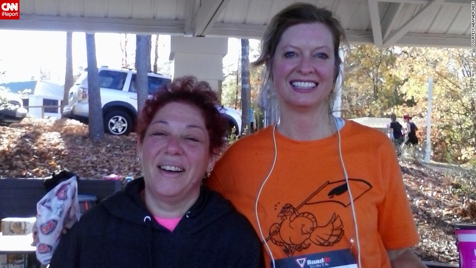 """The running community is one of the most supportive, nonjudgmental and uplifting I have ever had the pleasure to be a part of,"" said <a href=""http://ireport.cnn.com/docs/DOC-1063396"">Heather Nees</a>, left, of Chesterfield, Virginia. Since pledging to ""Run for Boston,"" she has completed two 5K's and an 8K, with another 5K coming up."