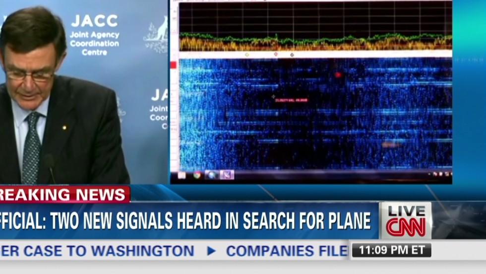 El barco australiano Ocean Shield detectó dos nuevas señales acústicas este martes.