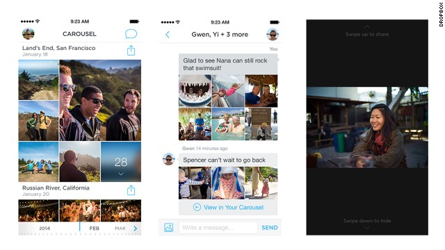 Carousel, a new app from cloud-storage service Dropbox, brings digital photos together into a central location.