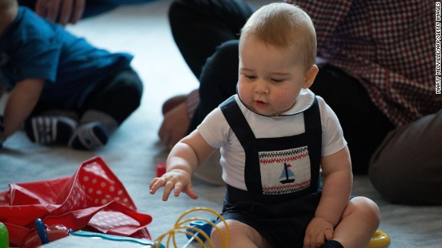 Royal baby has first play date