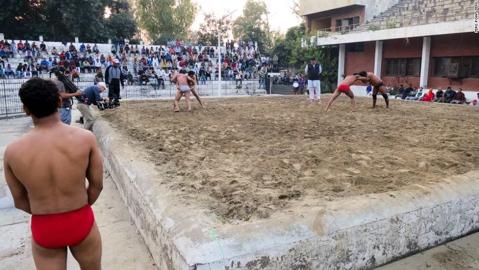 Pehlwani wrestlers compete in Amritsar. The objective of the ancient South Asian sport is simple: knock your opponent to the sand using your bodyweight.