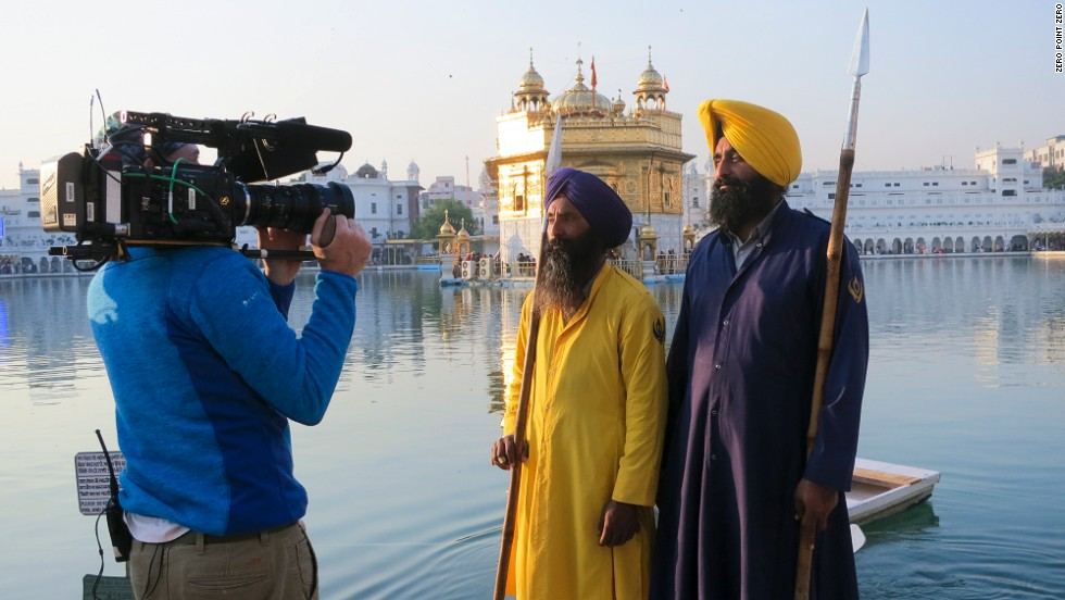 "Two men are filmed outside the Golden Temple, a central place of worship for Sikhs in Amritsar, India. The Season 3 premiere of ""<a href=""http://www.cnn.com/video/shows/anthony-bourdain-parts-unknown/season-3/punjab-india/index.html"">Anthony Bourdain Parts Unknown</a>"" explores Punjab, India's agricultural breadbasket."