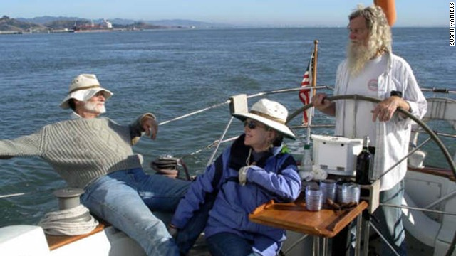 The sea always played an important part in the couple's lives, and the two enjoyed sailing on their boat, Tenacious.