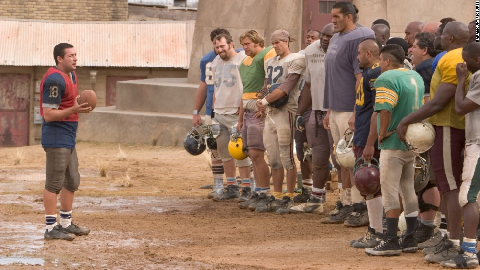 """The Longest Yard"" (2005): In prison, Adam Sandler assembles a team for one big game."