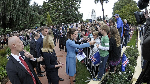 Royal visit draws crowds in New Zealand