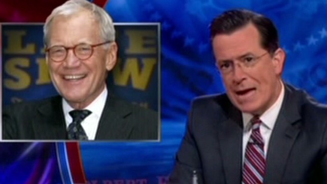 See Colbert's tribute to Letterman