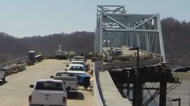 Time-lapse shows largest bridge slide
