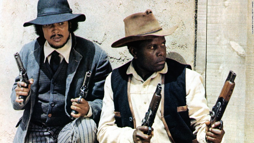 "Poitier's first film as a director was the 1972 Western ""Buck and the Preacher,"" in which he co-stars with Harry Belafonte. The two men protect a wagon train of recently freed slaves in 1860s America."