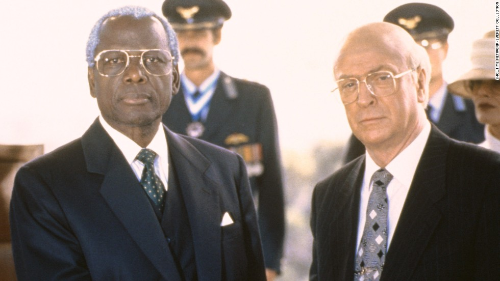 "Poitier played Nelson Mandela in the 1997 TV movie ""Mandela and de Klerk,"" which is about the anti-apartheid movement in South Africa and the rise of Mandela, who was released from prison by F.W. de Klerk and later succeeds him as president. Michael Caine played de Klerk."
