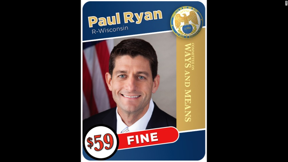 Wisconsin Rep. Paul Ryan had to pay a $59 fine after understating his income.