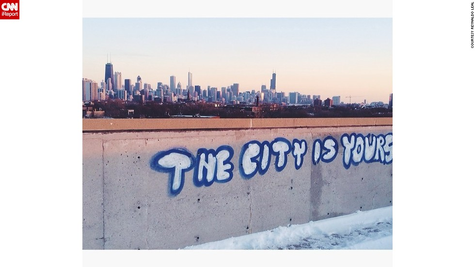 """""""Every day I wake up and see that powerful, <a href=""""http://ireport.cnn.com/docs/DOC-1105536"""">breathtaking skyline</a>, I feel inspired to work hard to make my city even greater,"""" says Reynaldo Leal. """"I proudly tell people 'I'm from Chicago' no matter what misconceptions they might have."""""""