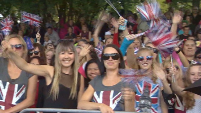 Royals leave big impression on NZ town