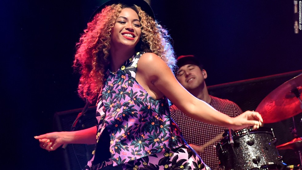 Singer Beyonce performs on stage on April 12.