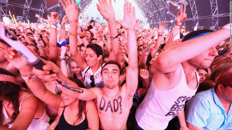 Music fans enjoy Coachella on April 12, day two of the three-day festival.