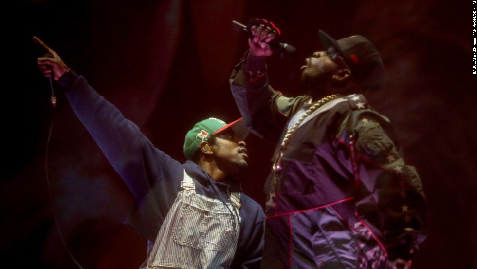 It was the first reunion show for Outkast, which hasn't performed together since 2006.
