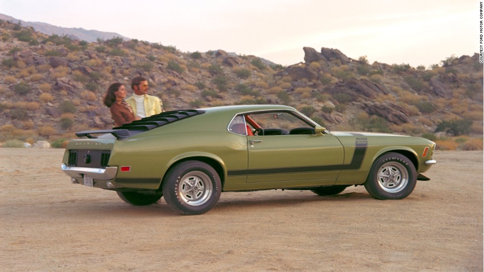 "<strong>1970 Ford Mustang Boss 302.</strong> In 1970, Ford offered an optional ram-air ""Shaker"" hood scoop that could be ordered on any Mustang equipped with a 351-cubic-inch or larger V-8 engine."