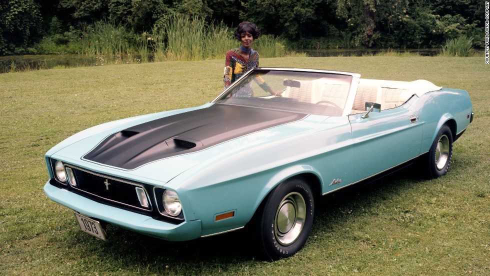 <strong>1973 Ford Mustang convertible.</strong> Rising gas prices brought an end to the big muscle cars, and 1973 was the last model year for the original Falcon platform Mustang.