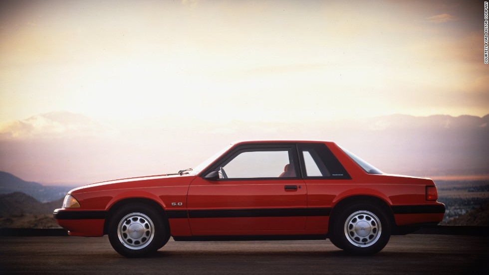 """<strong>1989 Ford Mustang LX coupe.</strong> As a special for the Mustang's 25th anniversary, all cars produced between April 17, 1989, and April 17, 1990, sported the Mustang's running horse logo on the dash with """"25 years"""" inscribed underneath."""