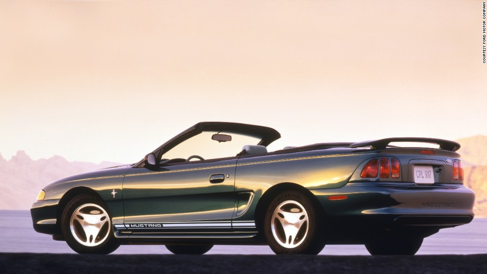 <strong>1997 Ford Mustang convertible.</strong> Ford added a passive anti-theft system as standard equipment on all Mustangs.