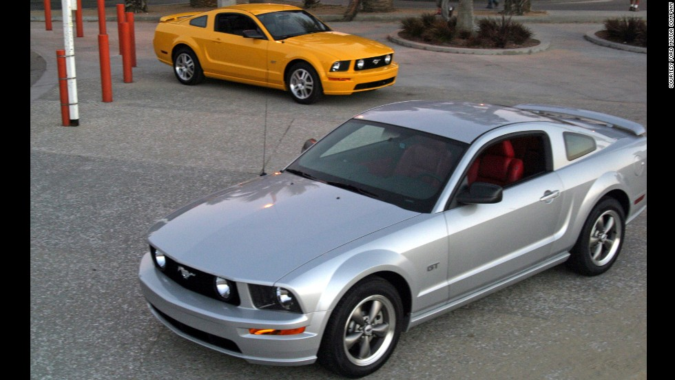 <strong>2005 Ford Mustang GT. </strong>The year 2005 brought in the fifth generation of the Mustang, with a wheelbase 6 inches longer than the car it replaced. The platform was unique to the Mustang and not shared with any other models. This year's Mustang models were produced in Ford's plant in Flat Rock, Michigan.