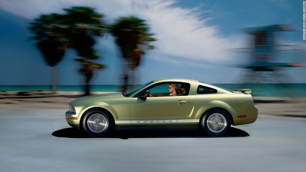 <strong>2006 Ford Mustang. </strong>The Mustang V-6 Deluxe is seen here, equipped with the sport appearance package.