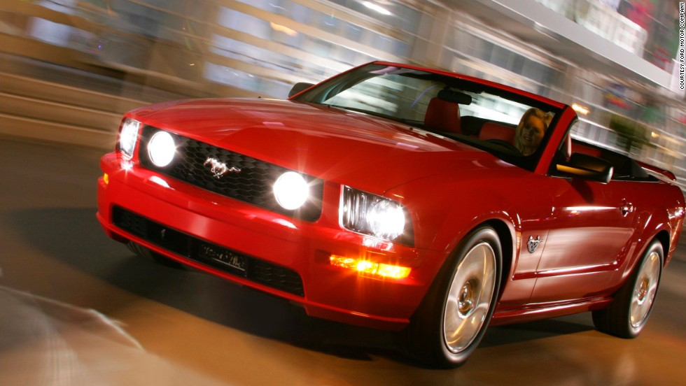 "<strong>2009 Mustang convertible</strong>. Thousands descended on Birmingham, Alabama, as the state declared ""Mustang Day"" on April 17, 2009, to celebrate the Mustang's 45th anniversary."