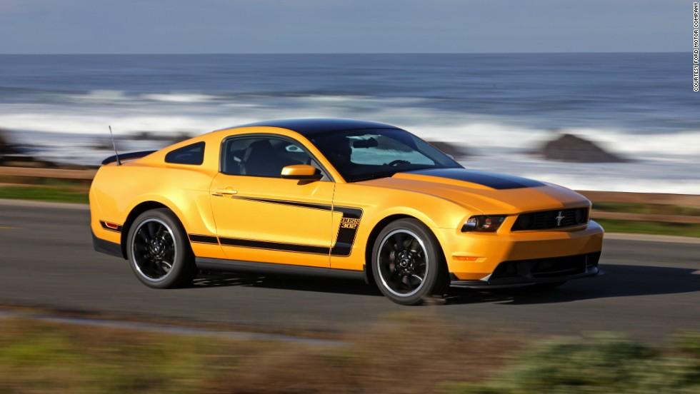 <strong>2012 Ford Mustang Boss 302.</strong> The limited-production 2012 Mustang Boss 302 was revived as a track-oriented model for a two-year limited-edition run, with its 5.0-liter V-8 upgraded to produce 444 horsepower.