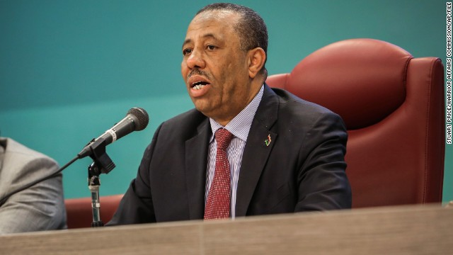 Abdullah al-Thinni is seen on March 7, while serving as Libya' Defense Minister.