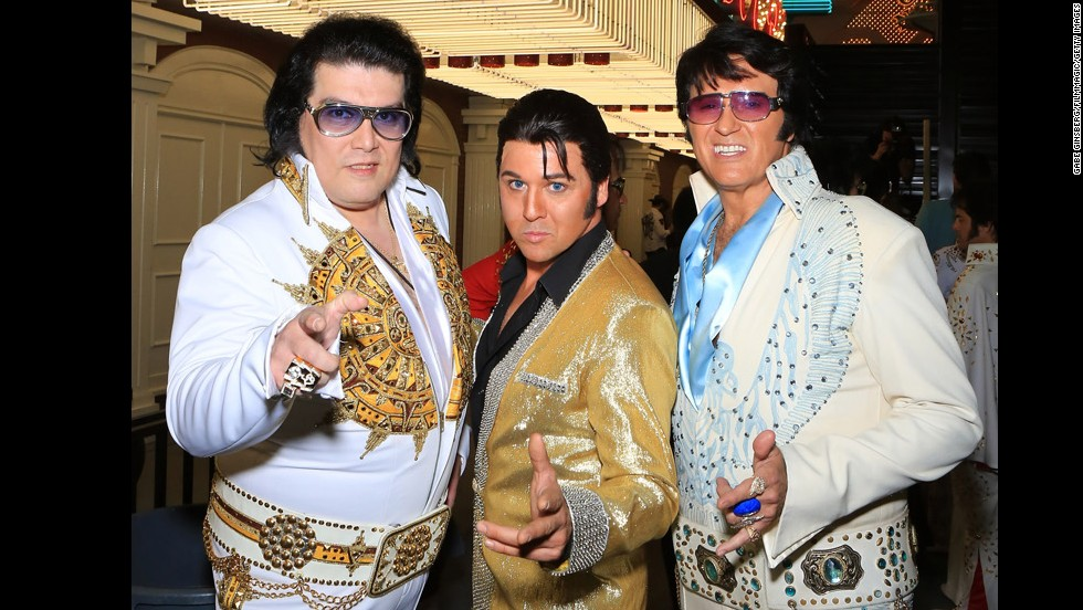 It's not unusual to bump into an Elvis impersonator at the gas station or convenience store.