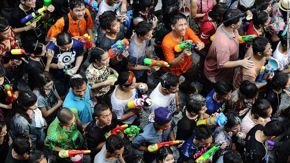 Thailand's Songkran Festival, celebrating the Thai New Year and official start of summer, runs April 13-16 this year. Splashing water is one of the main ways to celebrate, making it the most anticipated holiday of the year for many of Thailand's kids. Though clearly some adults enjoy it too.