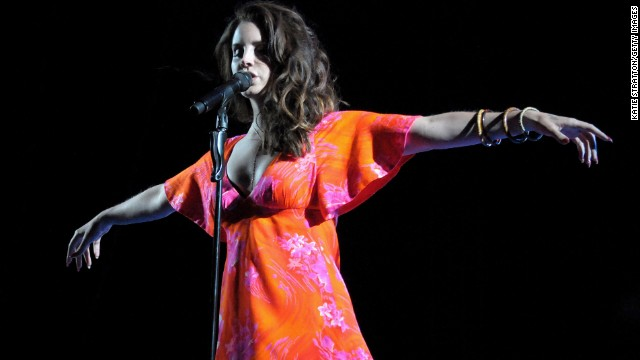 INDIO, CA - APRIL 13:  Singer Lana Del Rey performs onstage during day 3 of the 2014 Coachella Valley Music & Arts Festival at the Empire Polo Club on April 13, 2014 in Indio, California.