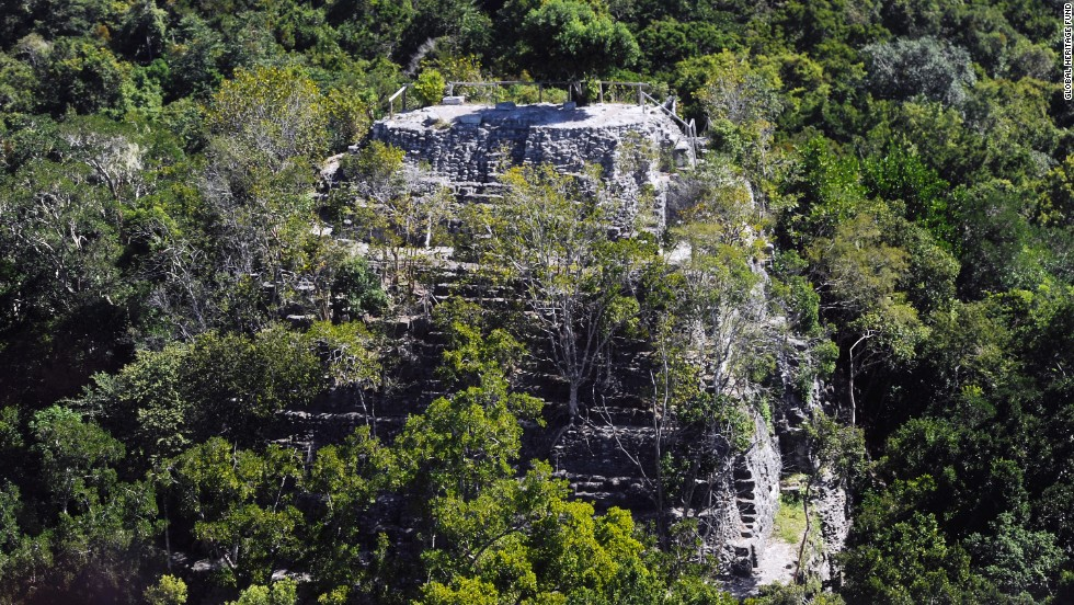 "Maya Biosphere Reserve in northern Guatemala, recognized by UNESCO as a biosphere reserve, is home to the largest and earliest pre-classic Maya archaeological sites in Mesoamerica. That includes <a href=""http://globalheritagefund.org/mirador_guatemala"" target=""_blank"">El Mirador</a>, where La Danta, one of the largest pyramids in the world, is located. La Danta is shown here in an aerial view."
