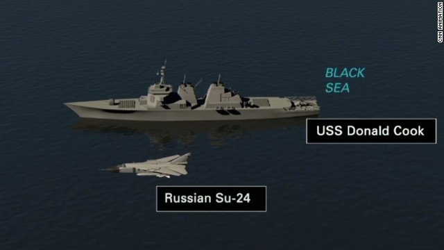 Russian fighter jet provokes U.S. ship