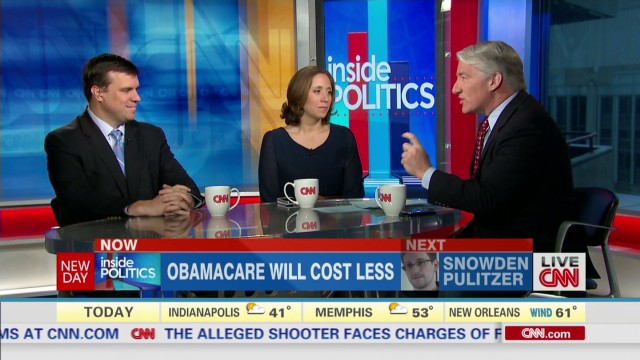 Inside Politics: Obamacare to cost less