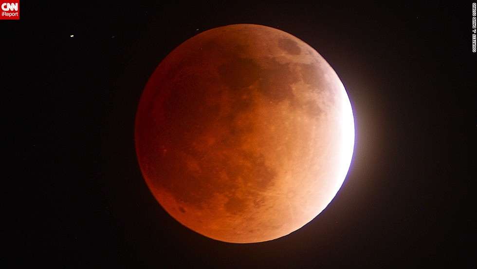 "APRIL 16 -  CALIFORNIA, UNITED STATES: A <a href=""http://www.cnn.com/2014/04/15/world/blood-moon-irpt/"">""blood moon"" </a>crossed the earth's shadow Tuesday, giving a rare glimpse of the total lunar eclipse -- or tetrad -- visible to people in North and South America. J. David Osorio photographed the different phases in Los Angeles, including the image shown.<a href=""http://ireport.cnn.com/docs/DOC-1121013""> See more of his images here.</a>"