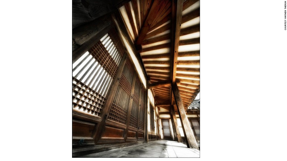 """<strong>Paju Book City</strong><br /><br />Taken in Paju Book City, an <a href=""""http://travel.cnn.com/seoul/visit/5-reasons-visit-paju-book-city-266100"""" target=""""_blank"""">esoteric, book-obsessed city</a> just north of Seoul, Mathew Theron's photograph shows a hanok, a traditional Korean house. <br /><br />While they're disappearing fast due to urban development, exquisite, centuries-old hanok <a href=""""http://travel.cnn.com/seoul/visit/5-reasons-stay-hanok-while-traveling-korea-813242"""" target=""""_blank"""">available for overnight visitors </a>can still be found throughout the country. Travelers be warned: many don't have showers."""