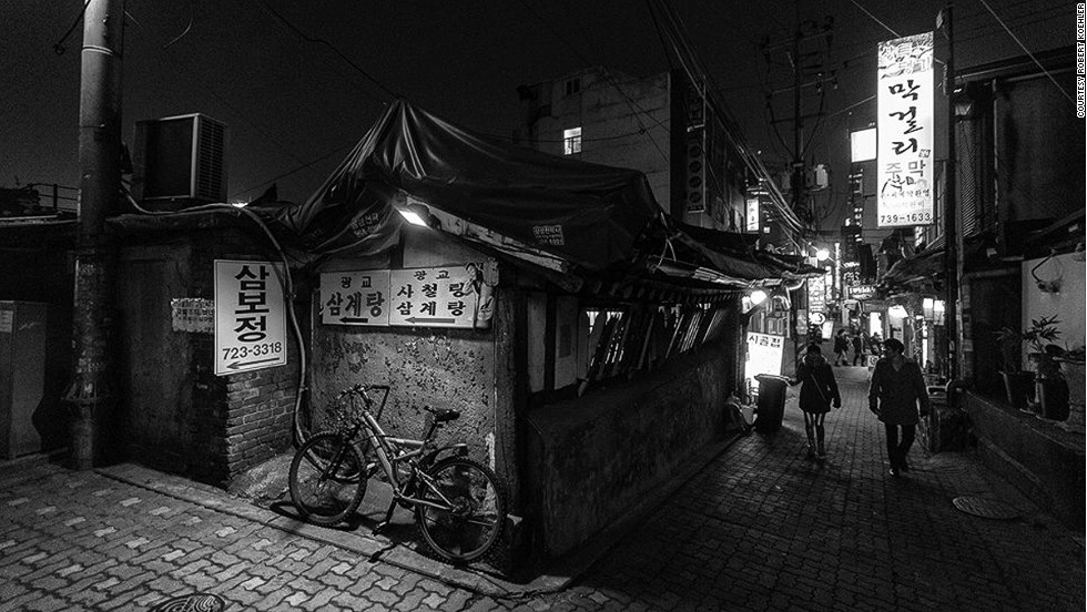 "<strong>Insadong</strong><br /><br />There are approximately 100 galleries in Seoul's charming Insadong neighborhood, one of the most popular spots in the city for foreign visitors. <br /><br />While the main street has plenty to see, the alleyways, stuffed with eateries, tea houses and traditional drinking holes, are great for exploring at night, as captured here by <a href=""http://rjkoehler.tumblr.com/"" target=""_blank"">Robert Koehler</a>, one of the most prolific foreign travel writers/photographers in Korea. <br /><br /><a href=""http://travel.cnn.com/seoul/life/24-seoul-adventures-24-hours-133312"" target=""_blank"">MORE: Seoul: 24 hours, 24 adventures</a><br /><br />"