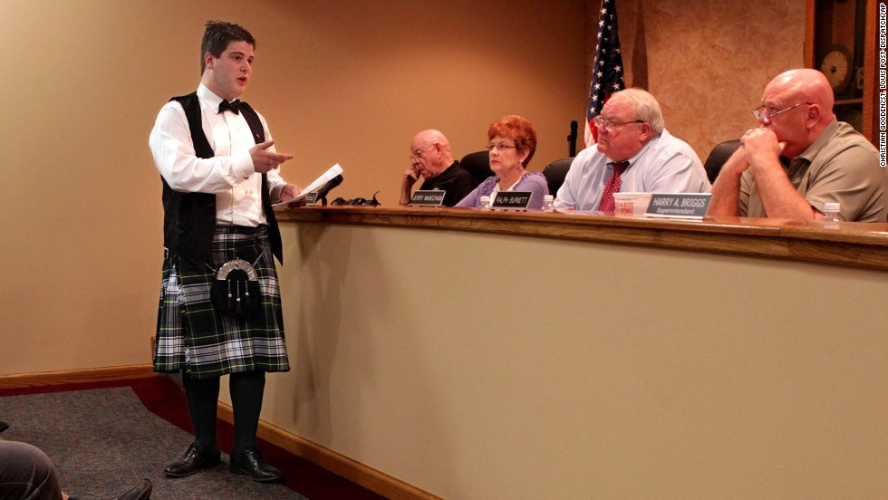 "<a href=""http://www.stltoday.com/news/local/metro/granite-city-student-can-t-wear-kilt-to-prom/article_8fd1bab1-5fc2-5716-be62-15838936758e.html"" target=""_blank"">William Carruba</a> asked his school board on March 27, 2012, why he wasn't allowed to wear a kilt made of his family's Scottish-heritage tartan to the Granite City High School prom in Illinois, across the Mississippi River from St. Louis, Missouri. He was denied again: The kilt was called ""nontraditional"" by officials, who said it didn't fit into the district's dress code."