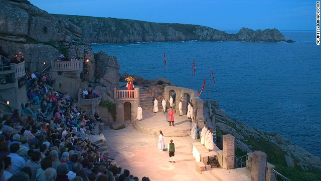 Minack Theatre: Let's hope it doesn't rain.