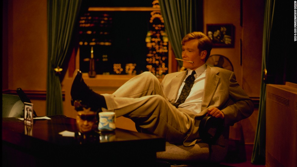"""Talk show host Conan O'Brien was an intern for former U.S.<u> </u>Rep. Barney Frank of Massachusetts. Since then, he's moved up from writing for """"Saturday Night Live"""" and """"The Simpsons"""" to hosting """"Late Night,"""" """"The Tonight Show"""" and """"Conan."""" He's seen here in 1990 before becoming the host of """"Late Night."""""""