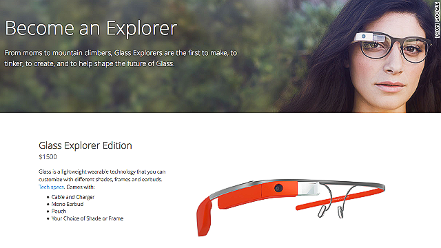 Google made its Glass connected eyewear available online to the general public on April 15.