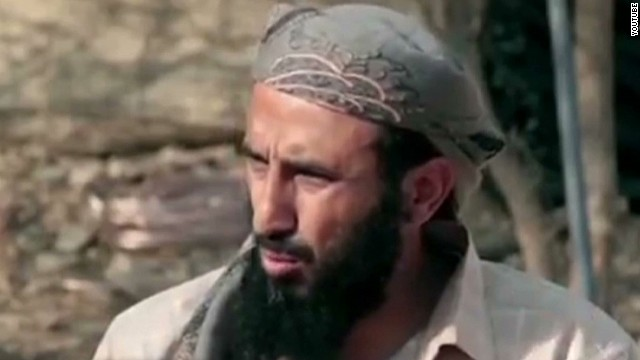 Nasir al-Wuhayshi, head of al Qaeda in the Arabian Peninsula, in a still from an al Qaeda propaganda video released this week.
