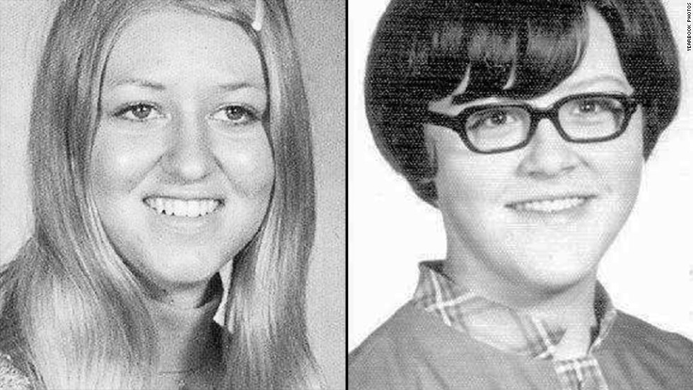 Cheryl Miller, left, and Pamela Jackson were 17-year-old high school students when they disappeared in 1971. They were driving to a party at a gravel pit near Beresford, South Dakota. Investigators have put their case to rest, declaring the girls died in a car accident, with no signs of foul play.